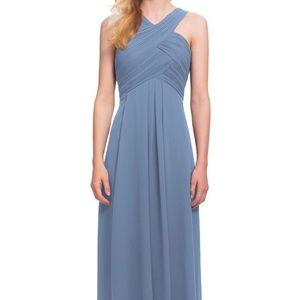 #Levkoff Crisscross Bodice Chiffon Gown